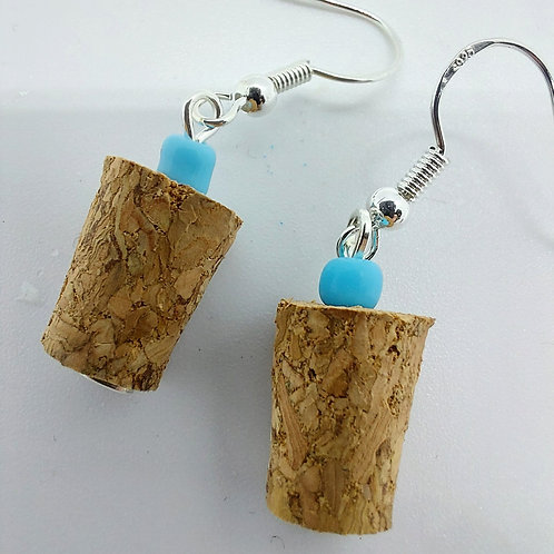 Miniature Wine Cork Earrings