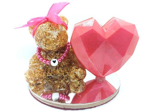 """""""Molly"""" Teddy Bear and Heart Ornament"""