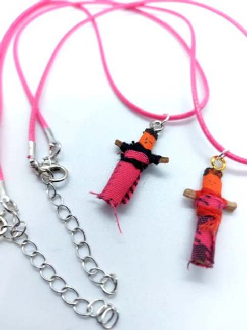 Hot Pink Worry Buddy Necklace