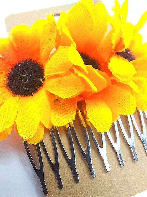 Sunflower Hair Combs