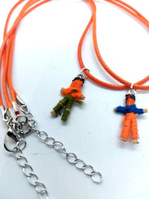 Orange Worry Buddy Necklace