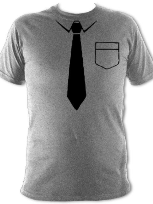 "Light Grey ""Black Tie"" Tee Shirt"