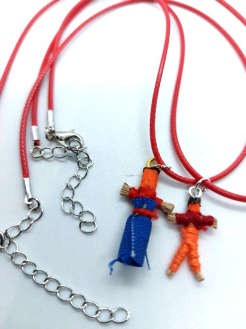 Red Worry Buddy Necklace