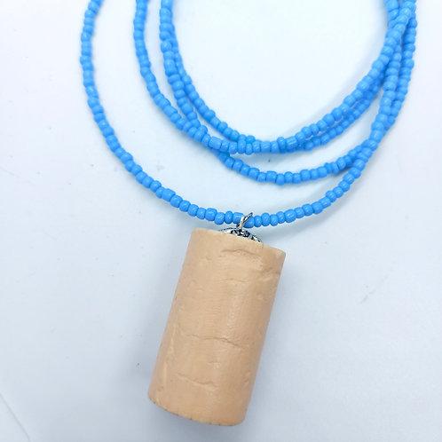 Cork Single Strand Beaded Necklace