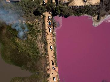 La Laguna Cerro, en Paraguay, seriamente afectada por la contaminación de una curtiembre