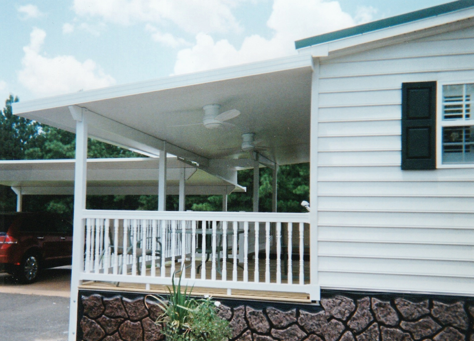 Patio Cover with Hand Rails