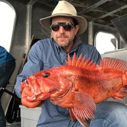 Fishing for Yellow-eye fish in Alaska.
