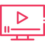 image of a computer with the play symbol representing the video content in this private practice marketing e-course