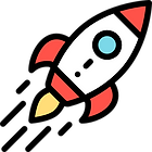 image of a rocketship representing the powerful things you will gain by taking this private practice marketing e-course.