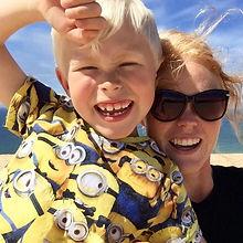 Christina Lykke med søn