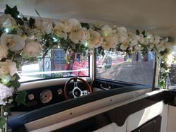 Interior of wedding car, shropshire
