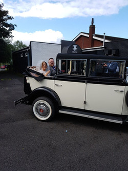 The vvintage replica on a wedding