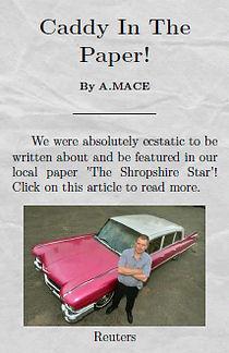 1959 Pink Cadillac Hire UK Telford Shropshire Star
