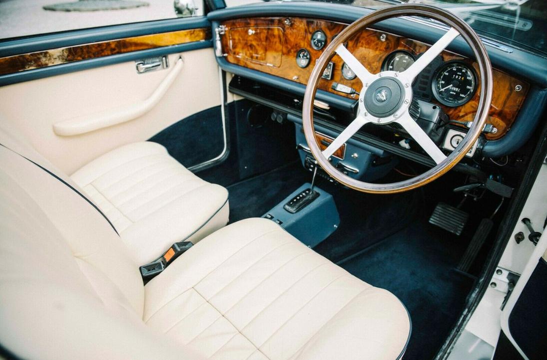 Interior of 2xl's wedding fleet car