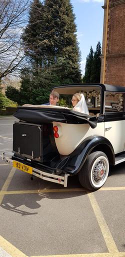 Convertable Vintage Wedding Car