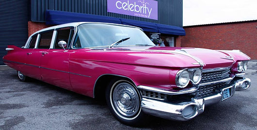 1959 Pink Cadillac Hire UK Telford Family Business