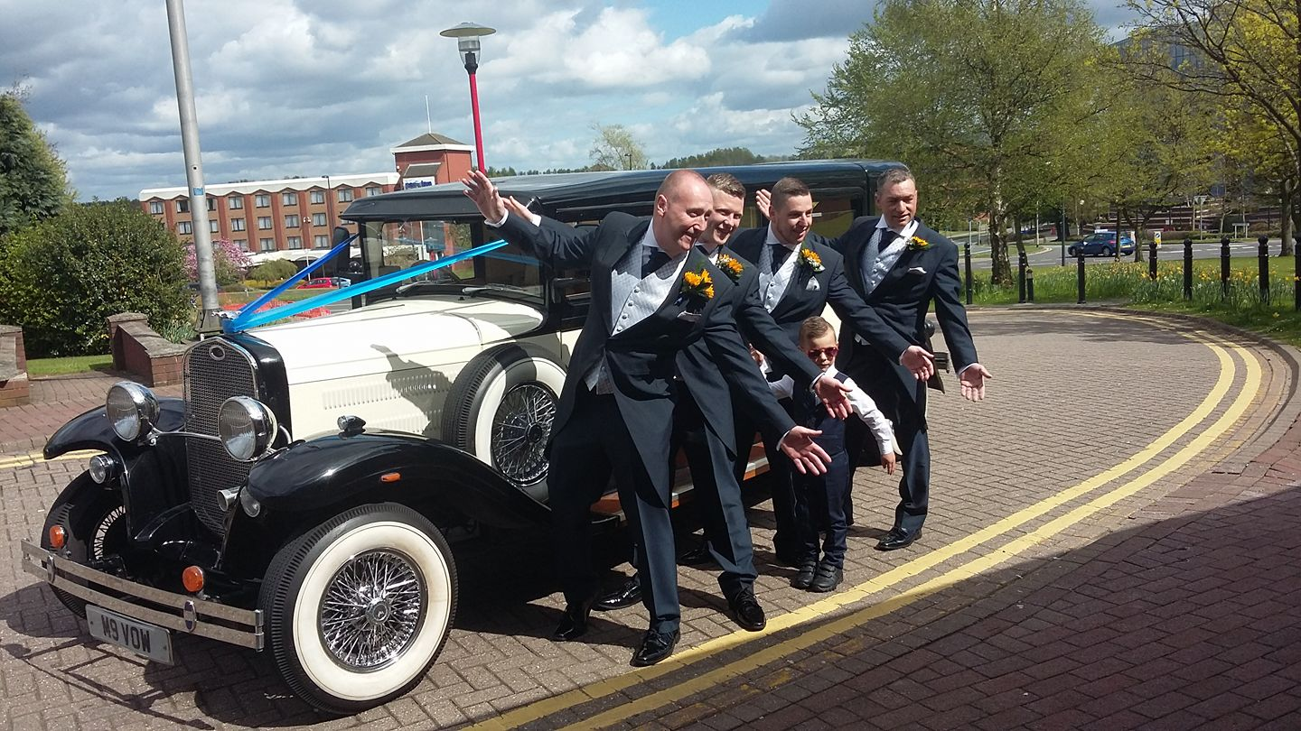 Grooms men wedding car hire