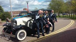 Grooms men wedding car hire