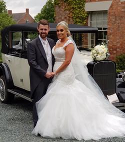 Bridal wedding car.