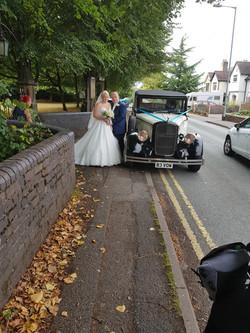 Wedding Car In Shropshire.