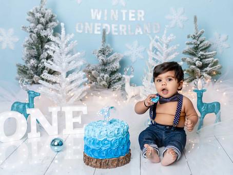 Kiaan's Winter Onederland Cake Smash