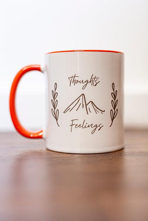 Thoughts & Feelings Elisha Francesca Mug (Orange)