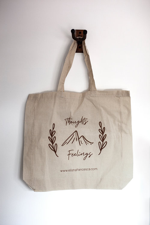 Thoughts & Feelings Tote Bag (100% Natural Cotton)