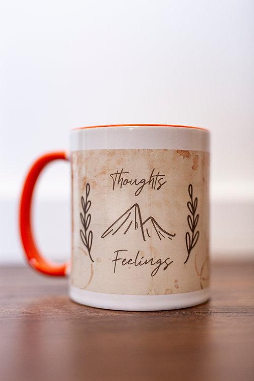 Thoughts & Feelings Wrap-Around Mug (Orange)