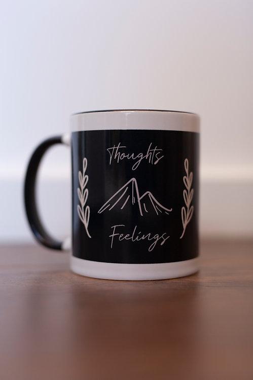 Thoughts & Feelings Wrap-Around Mug (Black)