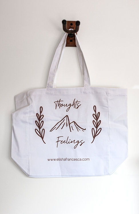 Thoughts & Feelings Tote Bag (White - 100% Cotton)