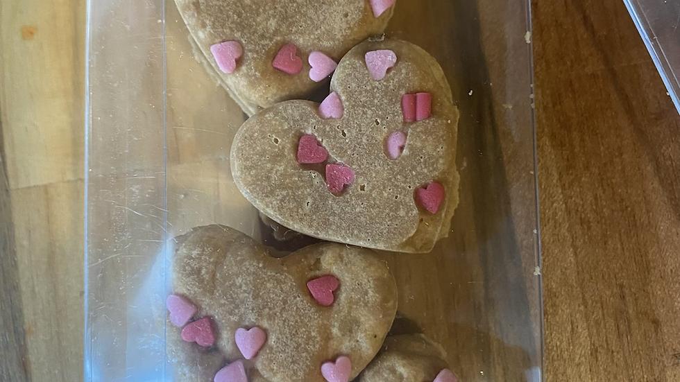 Vegan vanilla mini hearts