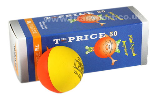 Price mini squash balls - orange