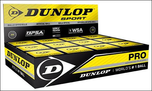 Dunlop double dot squash balls