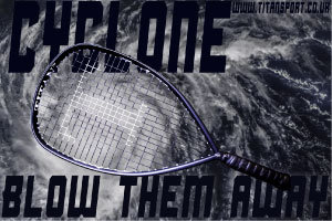 TITAN Cyclone racketball (Squash 57) racket