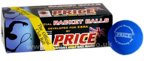 Price blue/club racketball balls