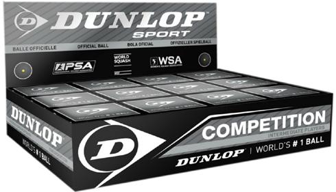 Dunlop single dot squash balls Competition