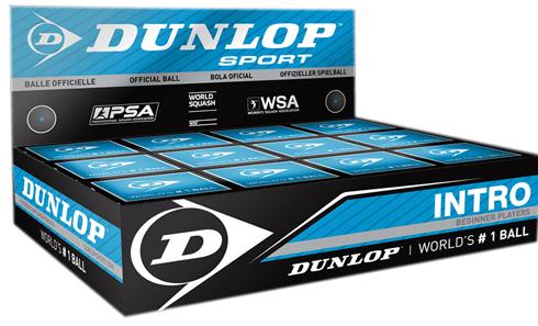 Dunlop Intro squash balls blue