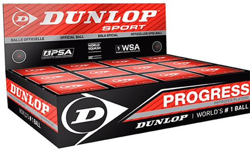 Dunlop Progress squash balls red dot