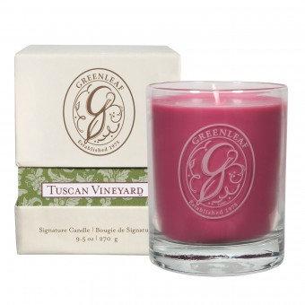 Свеча в стекле Виноград Тосканы Greenleaf