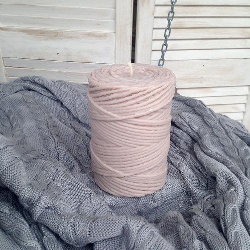 Свеча моток 15 см цвет Какао