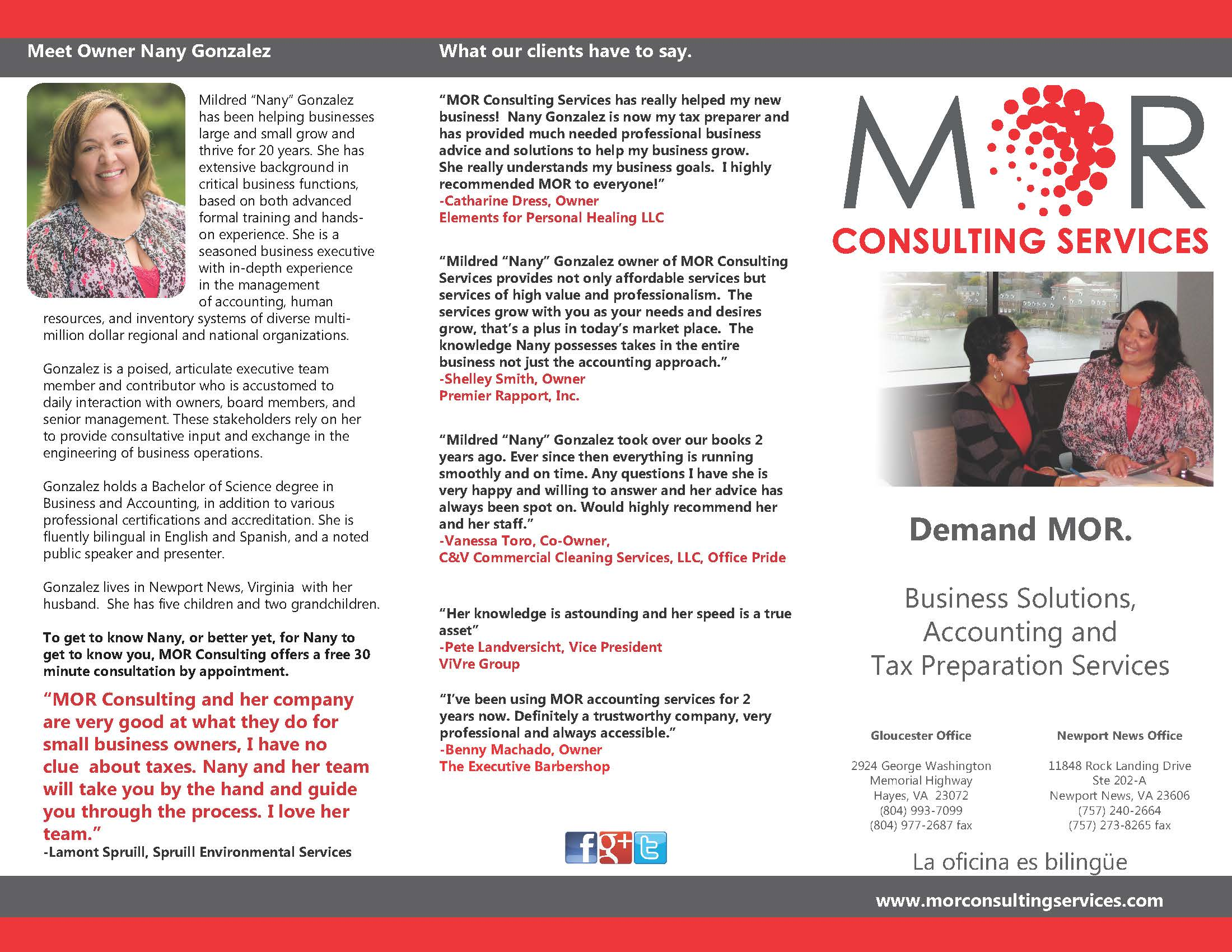 MOR Consulting Services Brochure