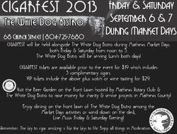 White Dog Bistro Cigar Fest
