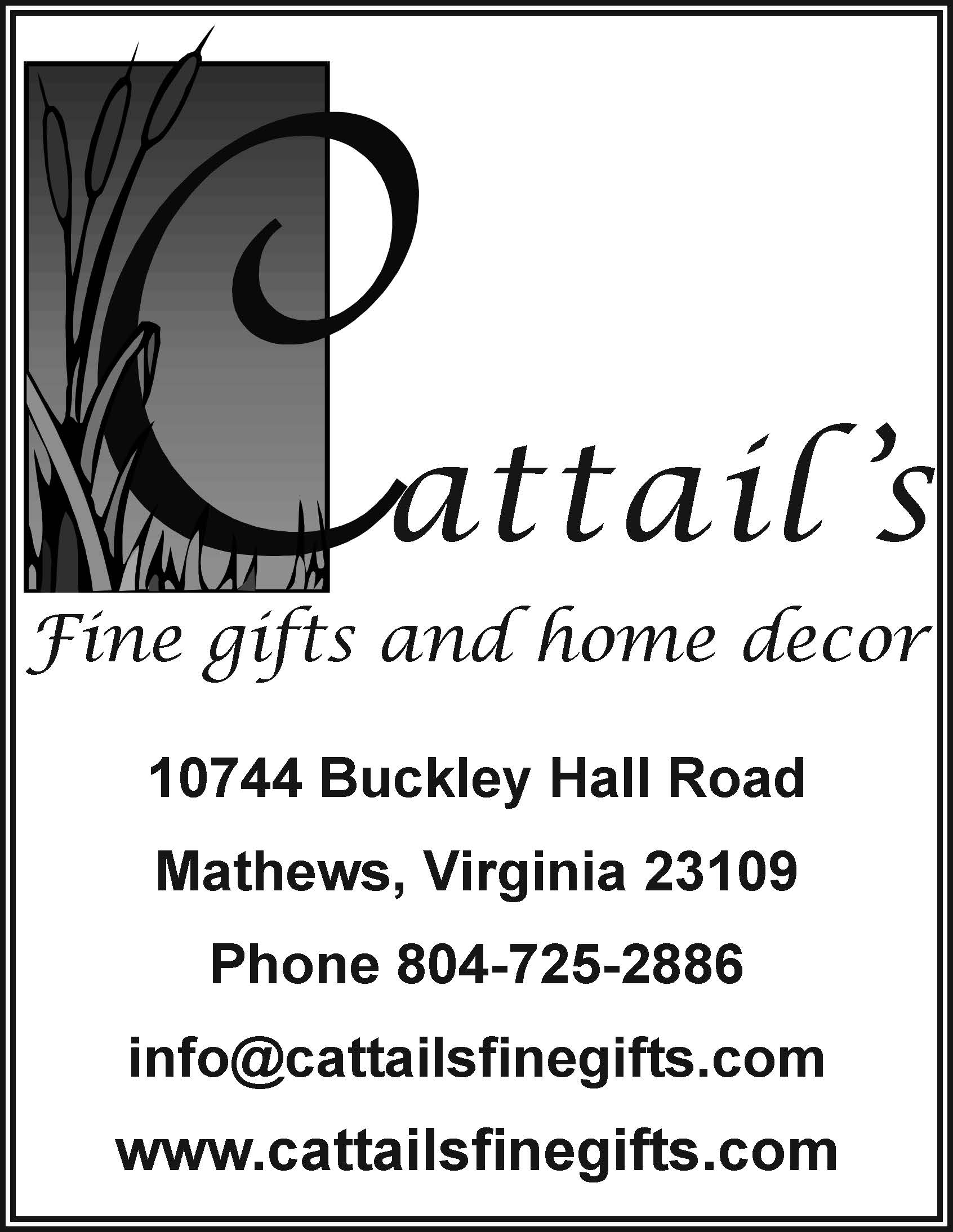 Cattails BW Ad