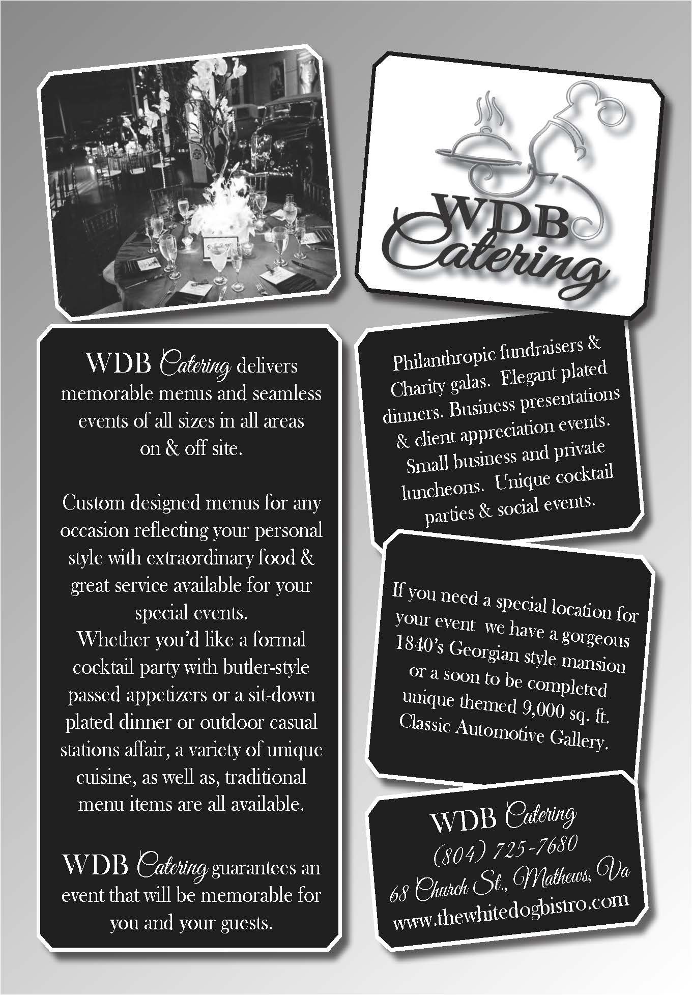 White Dog Bistro Catering Ad