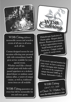 White Dog Bistro Catering Ad