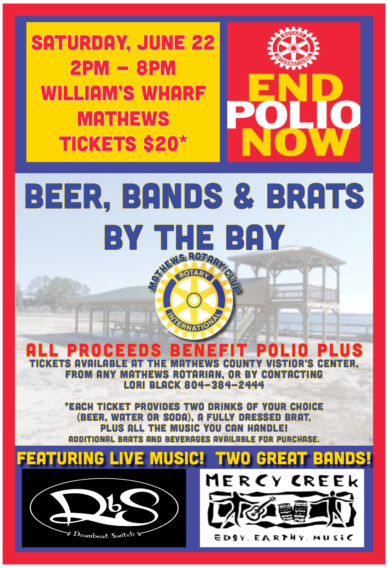 Mathews Rotary Fundraising Poster