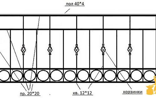 Балконы и ограждение №06