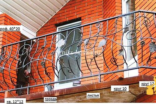 Балконы и ограждения (фото) №18