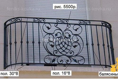 Балконы и ограждения (фото) №51