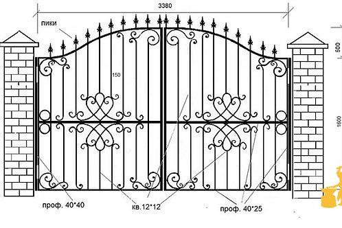 Ворота 015